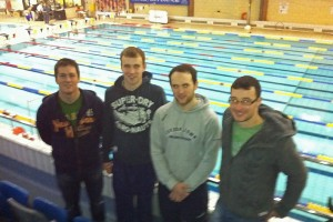 Pictured at the Ulster Masters Gala in Lisburn on 26 November 2011 were James O'Hara, Patrick McKenna, Damien Murray and Paul McDonald