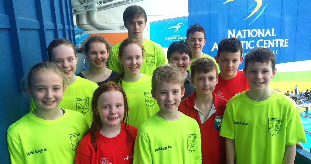 Sliabh Beagh Swimmers at Leinster Distance Gala in NAC