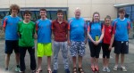 Sliabh Beagh Division 1 swimmers at Irish Age Group Championships in NAC with Head Coach Eamon O Hara.