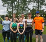 Sliabh Beagh Swimmers who took part in a very successful triathlon in Ballybay last weekend.