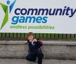 Tadgh who swam in the U8 25M freestyle at the Community Games National Finals.