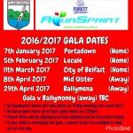Aquasprint Gala Dates