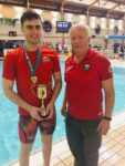 John is crowned Ulster Champion in the 50M breaststroke at the Ulster Short Course Championships