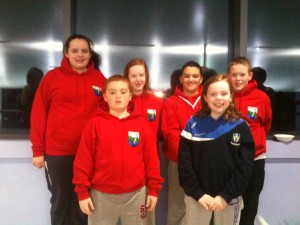 Some swimmers at the Larne Development Meet 2 on 27 November 2011