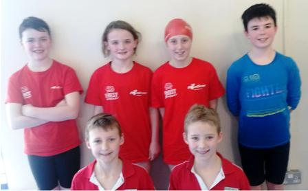 Some of our swimmers who competed in the Trojan Gala in the NAC