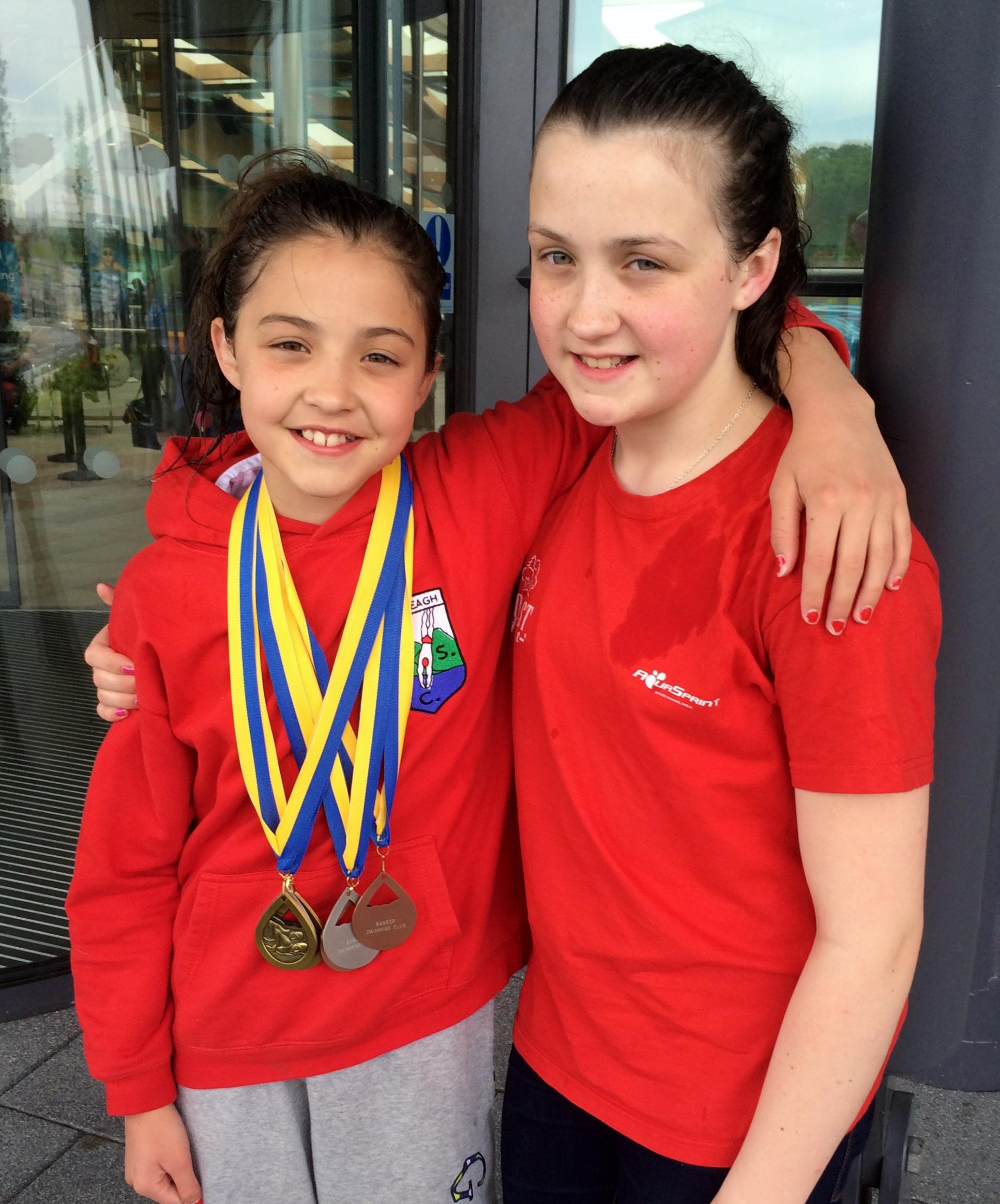 Sisters at Bangor long Course Meet