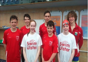 Sliabh Beagh swimmers at the Leinster Divison 1 Championships, NAC, Dublin