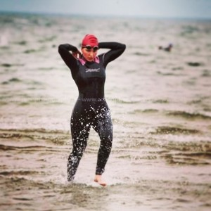 Emily Madden in action at the Howth Aquathon.
