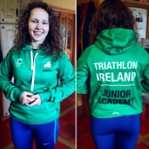 Emily Madden member of Triathlon Ireland Junior Academy