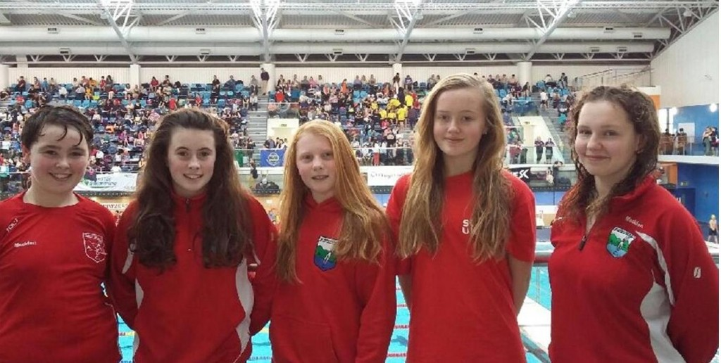 Some of our swimmers who competed at the Leinster Graded Gala in the NAC, Dublin.