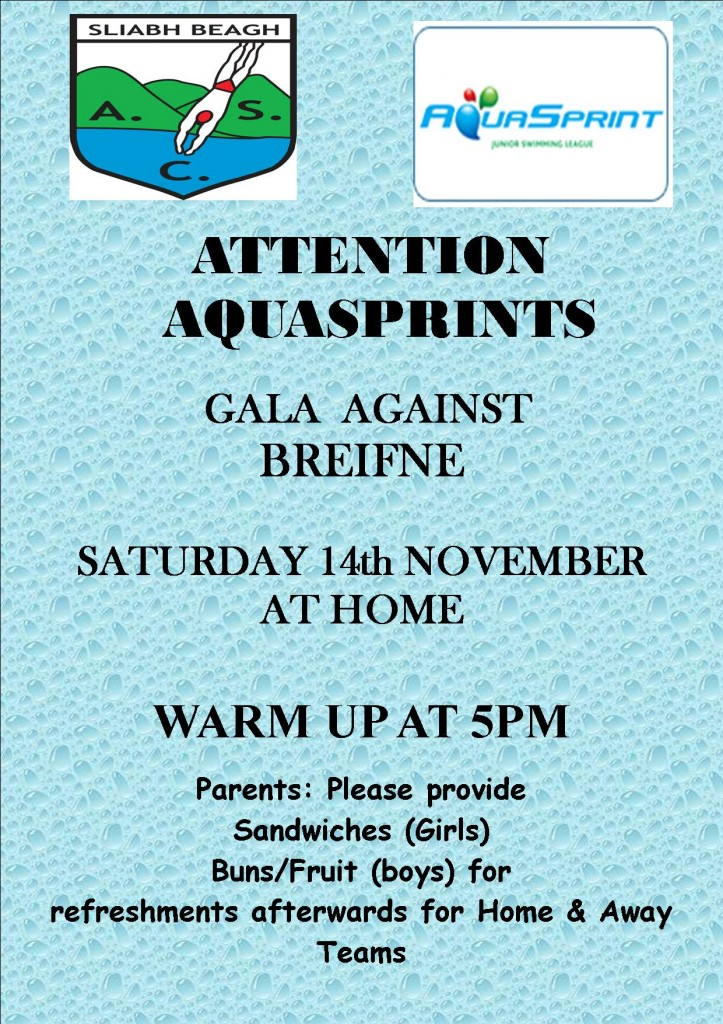 aquasprint home gala