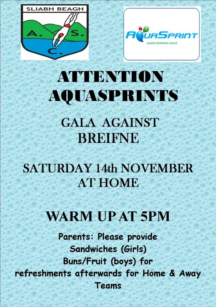 aquasprint home gala