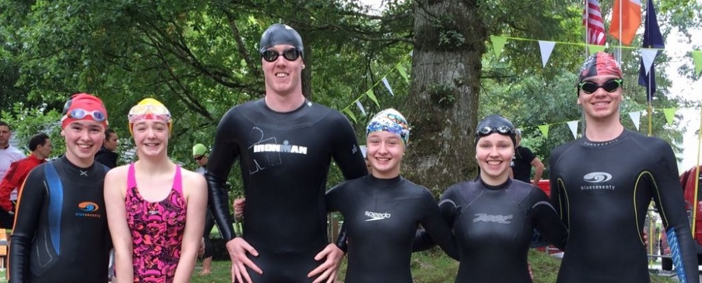 Sliabh Beagh Swimmers who took part in the Inter-County triathlon in Coothill at the weekend.