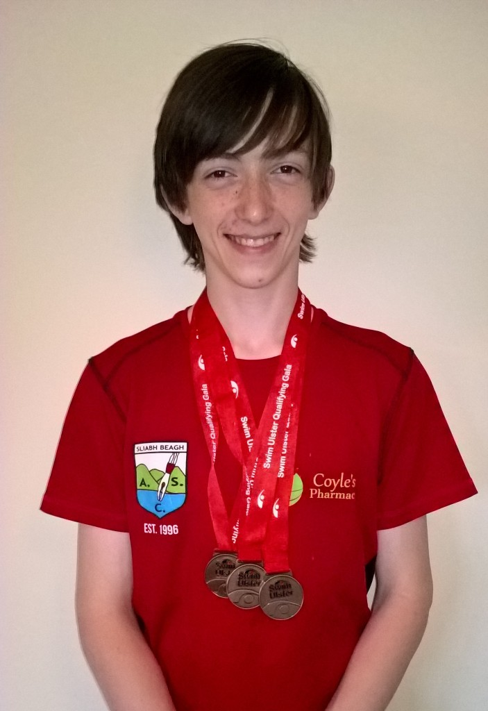 Triple Joy for Kyle at the Swim Ulster Summer Qualifying