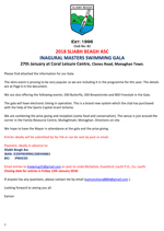 Download details of the Sliabh Beagh ASC Inagural Masters Swimming Gala